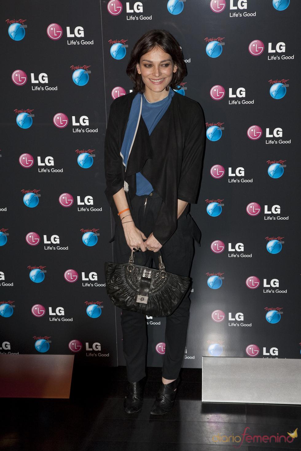 Laura Ponte en la presentación de LG como patrocinador de Rock in Rio Madrid 2010
