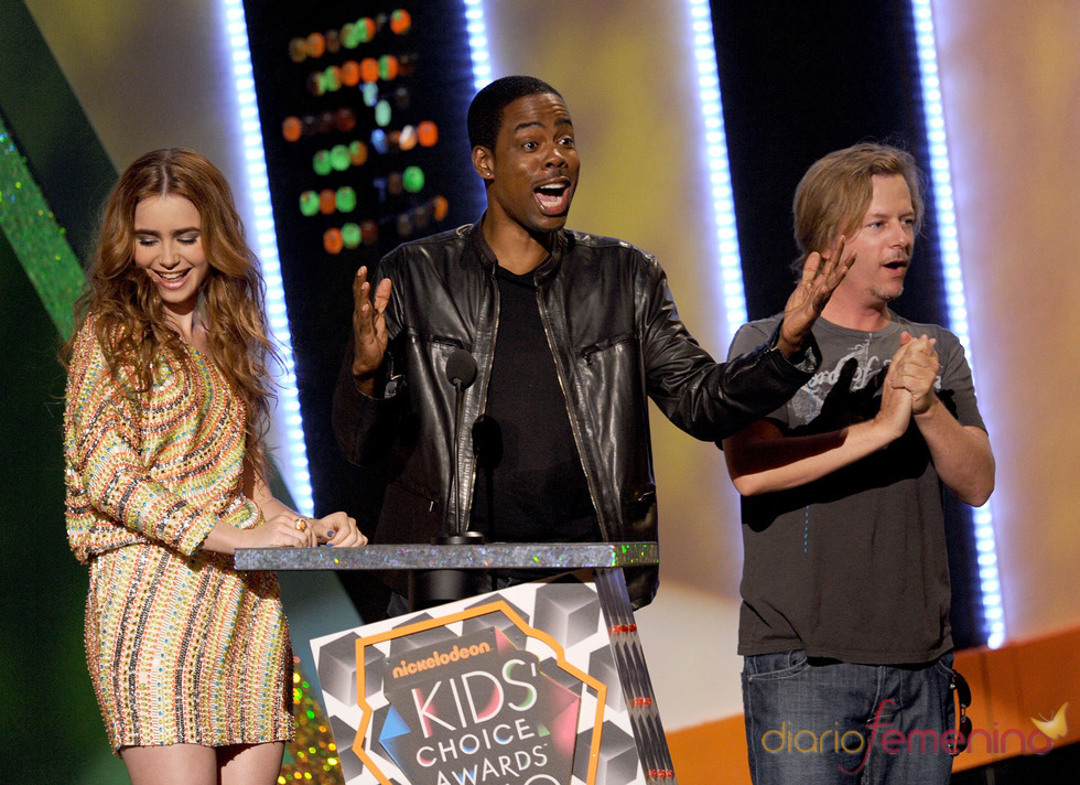 David Spade, Lily Collins y Chris Rock