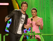 Lea Michelle y Cory Monteith en los Kids Choice Awards 2010