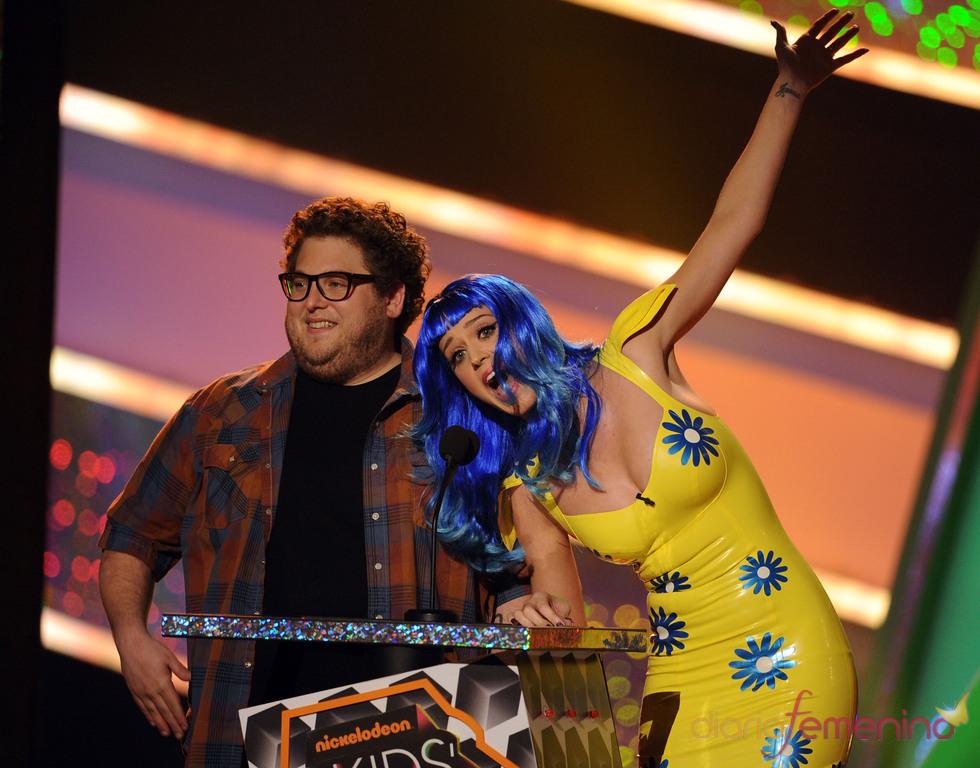 Katy Perry y Jonah Hill en los Kids Choice Awards 2010