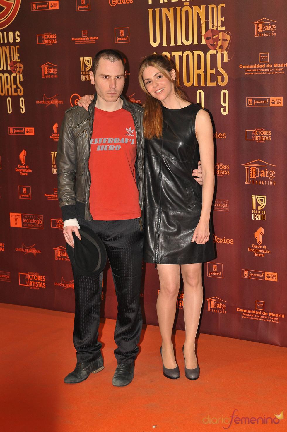 Rubén Ochandiano y Manuela Velasco en los XIX Premios de la Unión de Actores