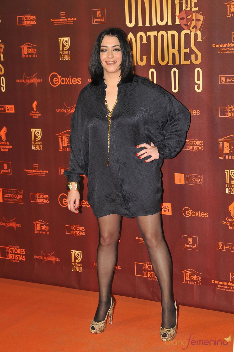 Maria Isasi en los XIX Premios de la Unión de Actores
