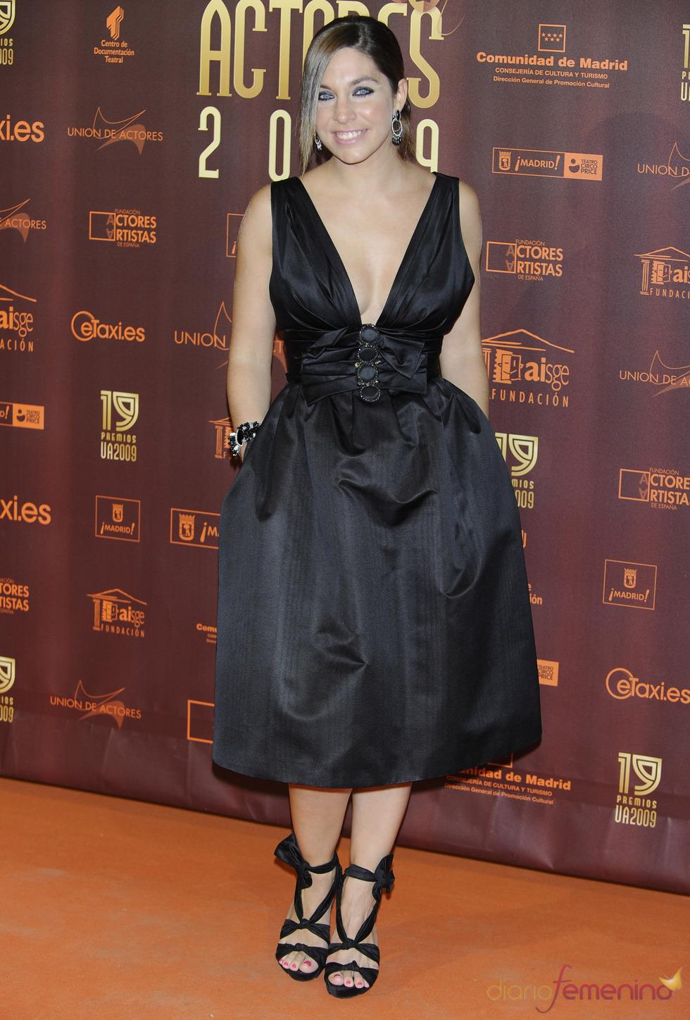 Leyre Martínez en los XIX Premios de la Unión de Actores