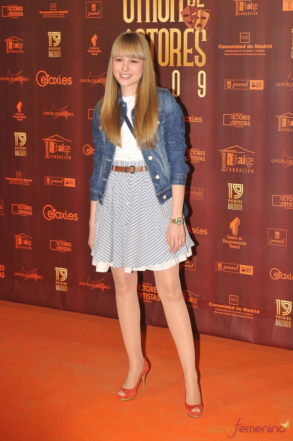 Esmeralda Moya en los XIX Premios de la Unión de Actores