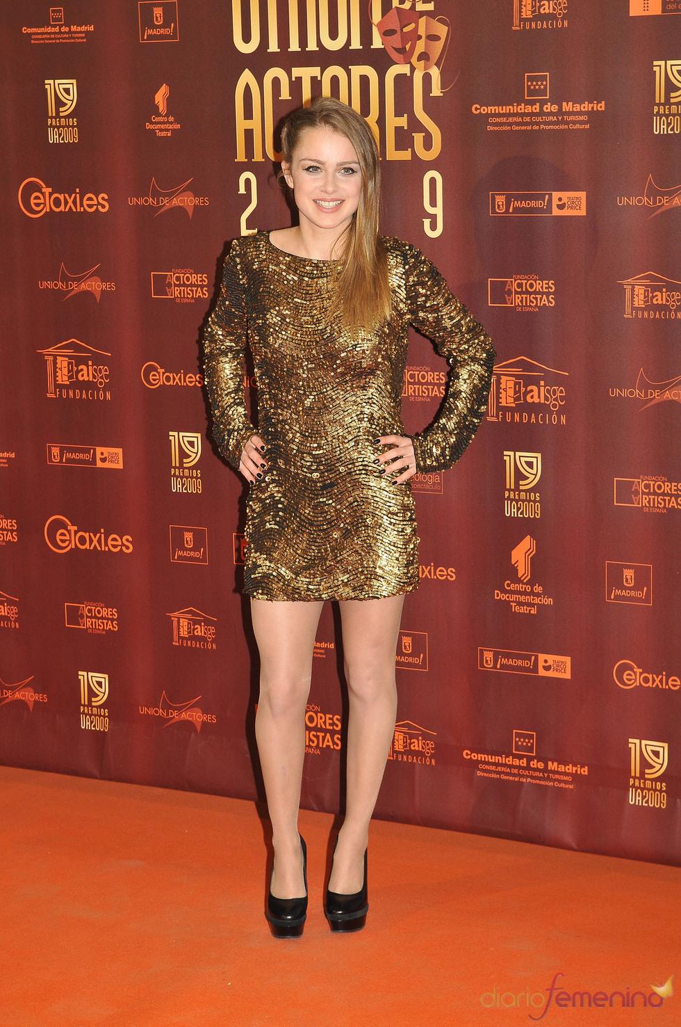 Carla Nieto en los XIX Premios de la Unión de Actores