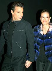 Ricky Martin y Rebeca del Alba