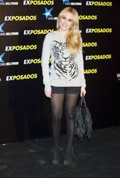 Berta Collado en la première de 'Exposados'