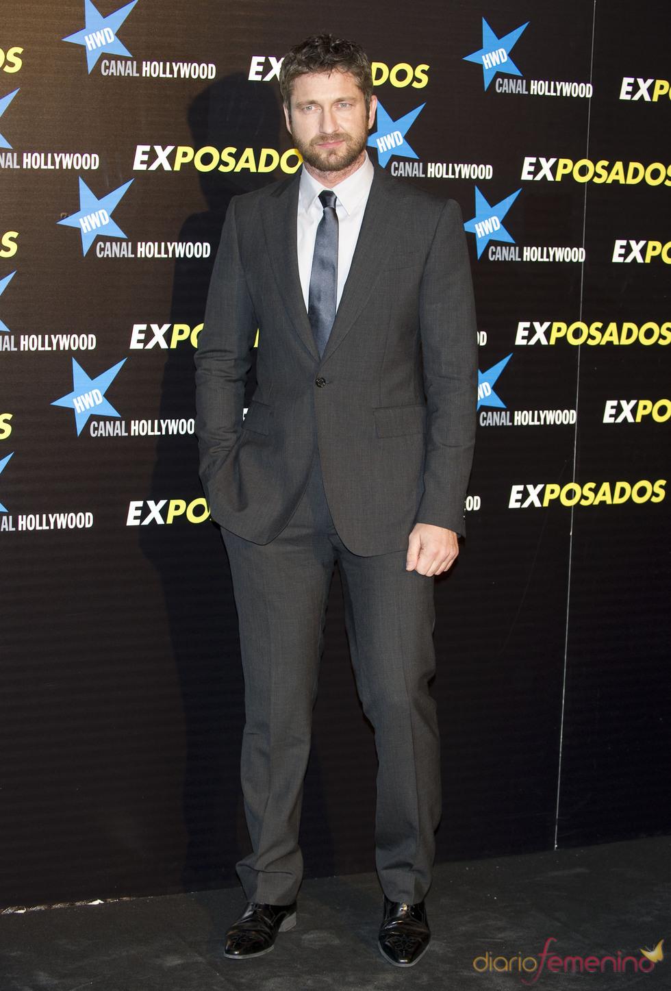 Gerard Butler en la première de 'Exposados'