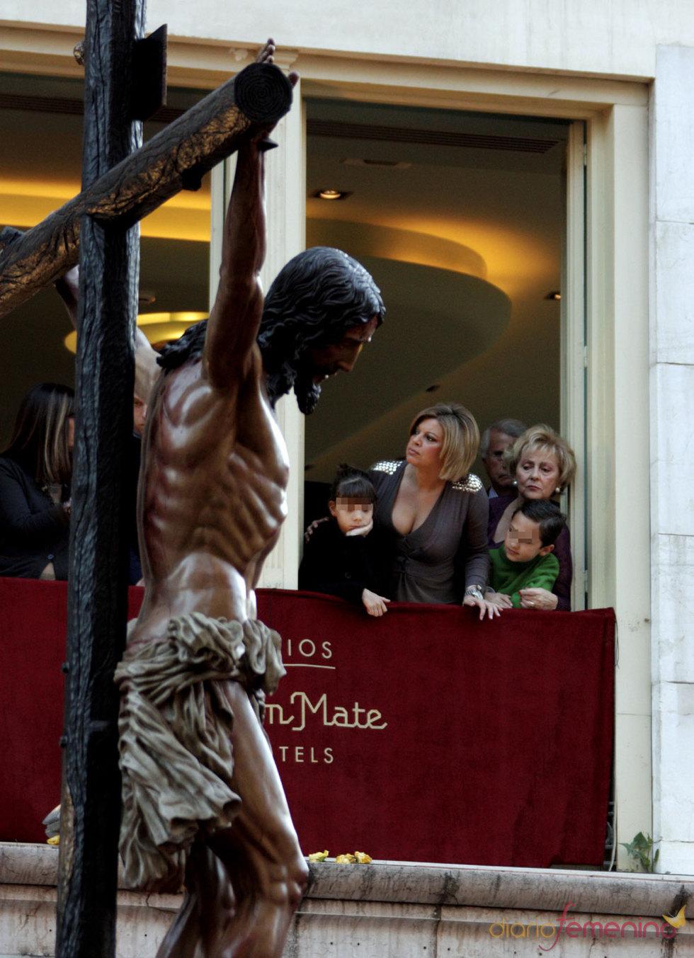Terelu Campos en la Semana Santa de Málaga