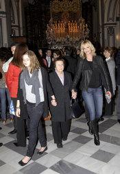 Melanie Griffith y su hija Estela del Carmen en la Semana Santa de Málaga