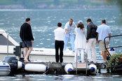 George Clooney y Elisabetta Canalis en el lago Como