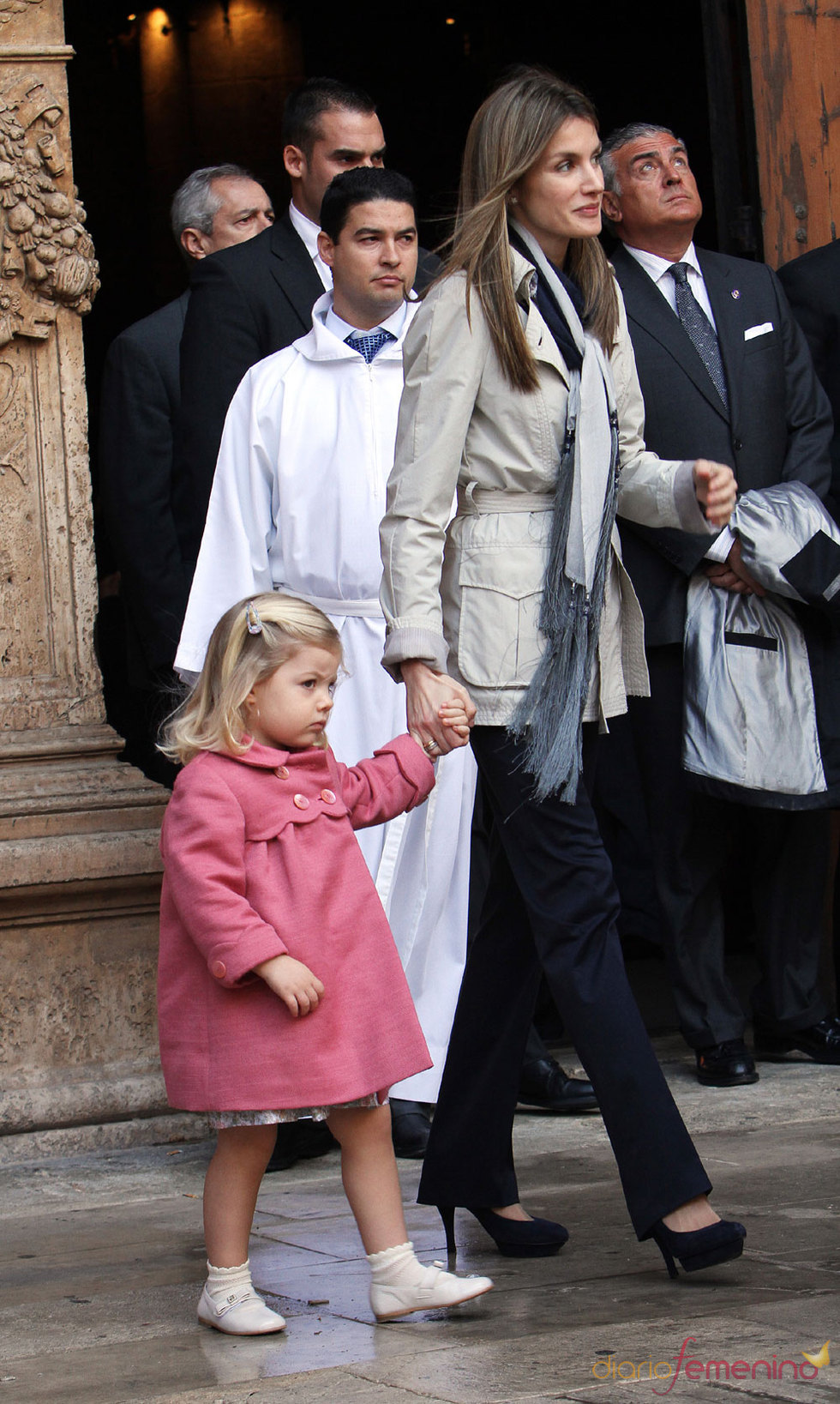 La Princesa Letizia en la Semana Santa de 2010 en Mallorca