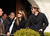 Angelina Jolie y Brad Pitt en Venecia Italia