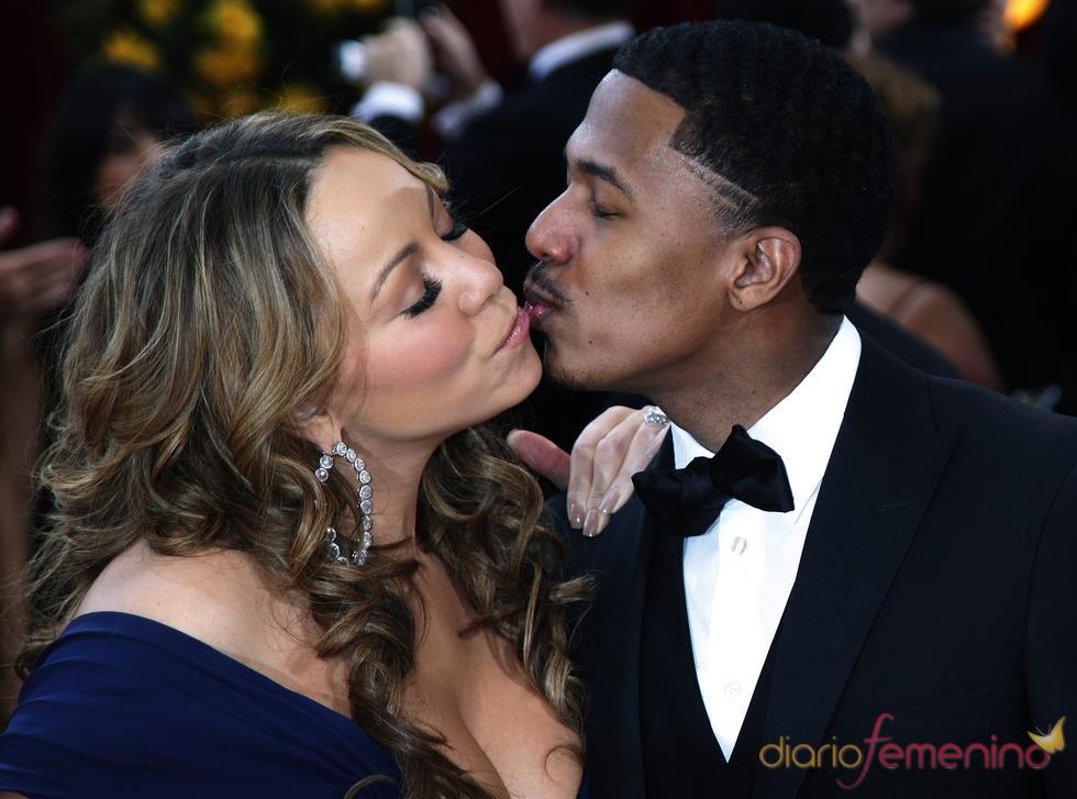 Beso de diva de Mariah Carey a Nick Cannon