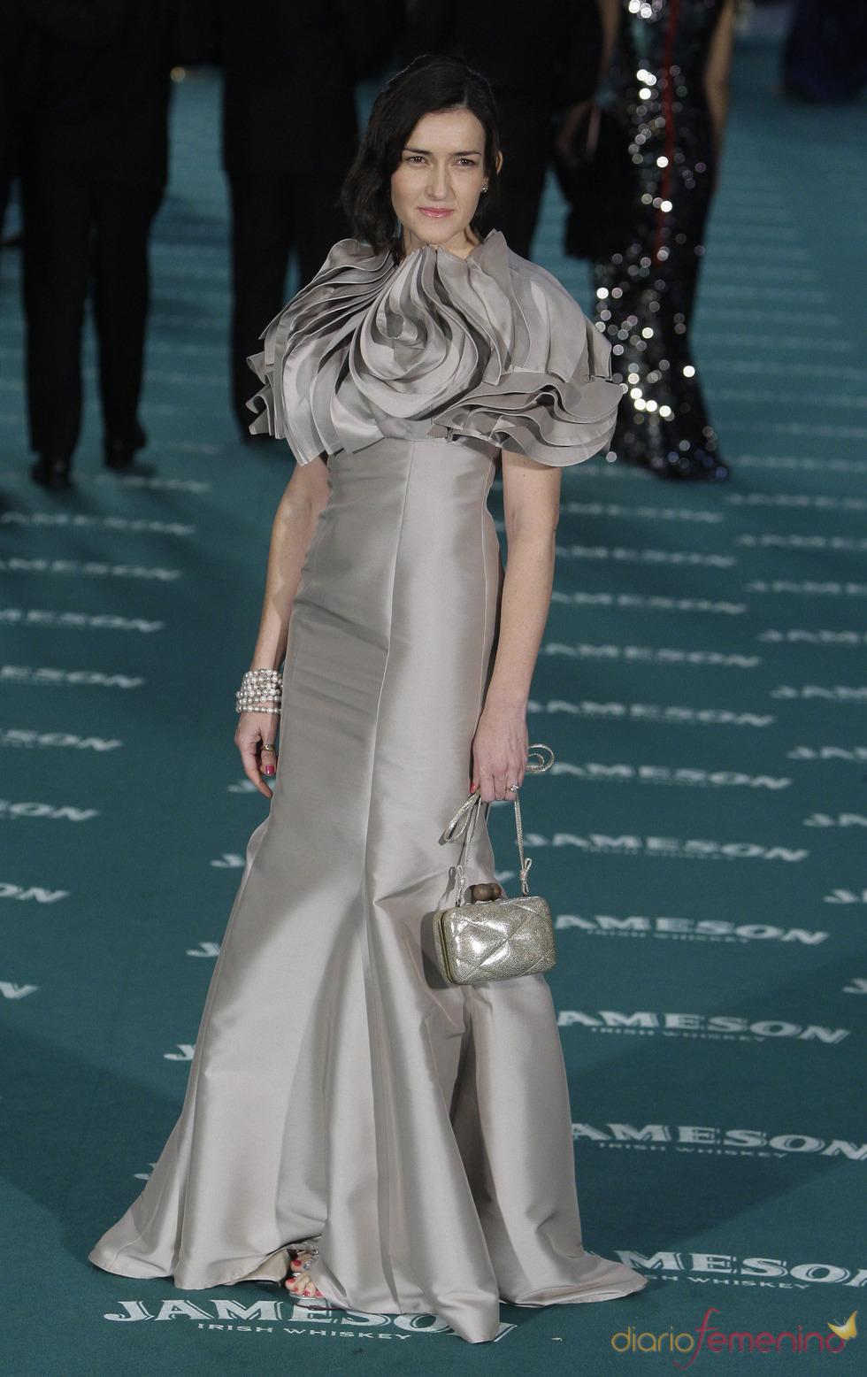 Vestido de Amaya Arzuaga de Ángeles González-Sinde en los Goya 2010