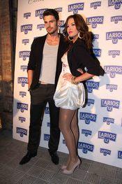 Antonio Reyes y Jessica Bueno en la presentación del Calendario Larios de la Moda 2010