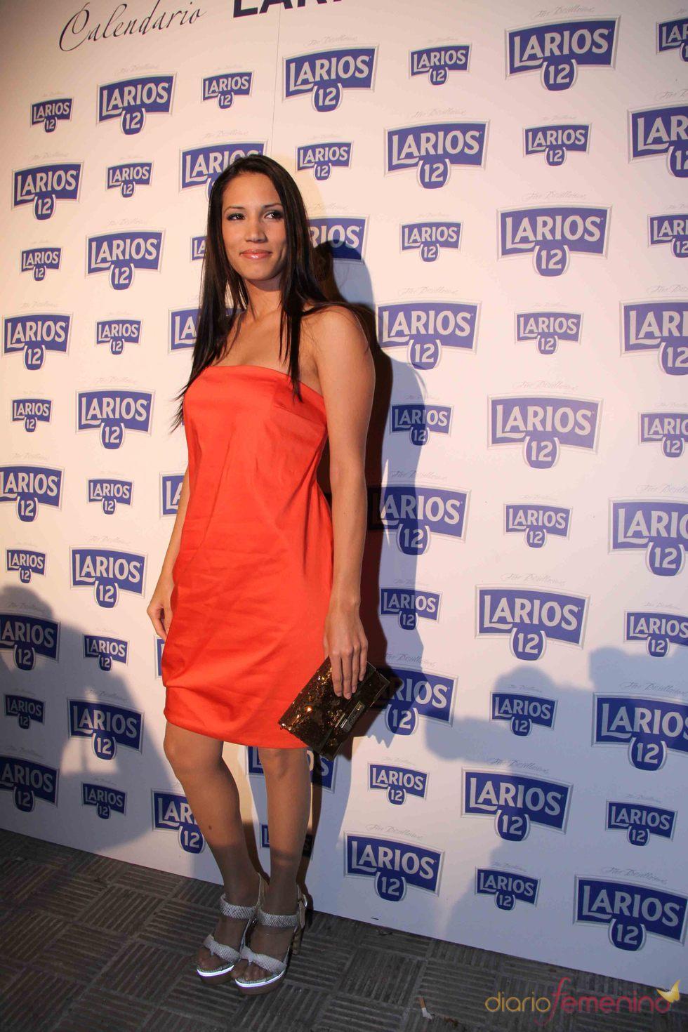 India Martínez en la presentación del Calendario Larios de la Moda 2010