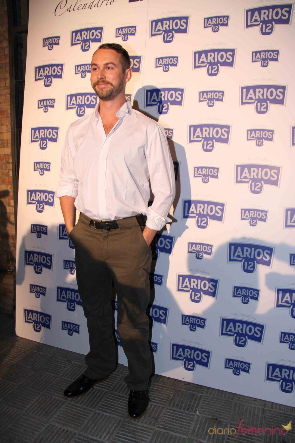 Nicolás Vaudelet en la presentación del Calendario Larios de la Moda 2010