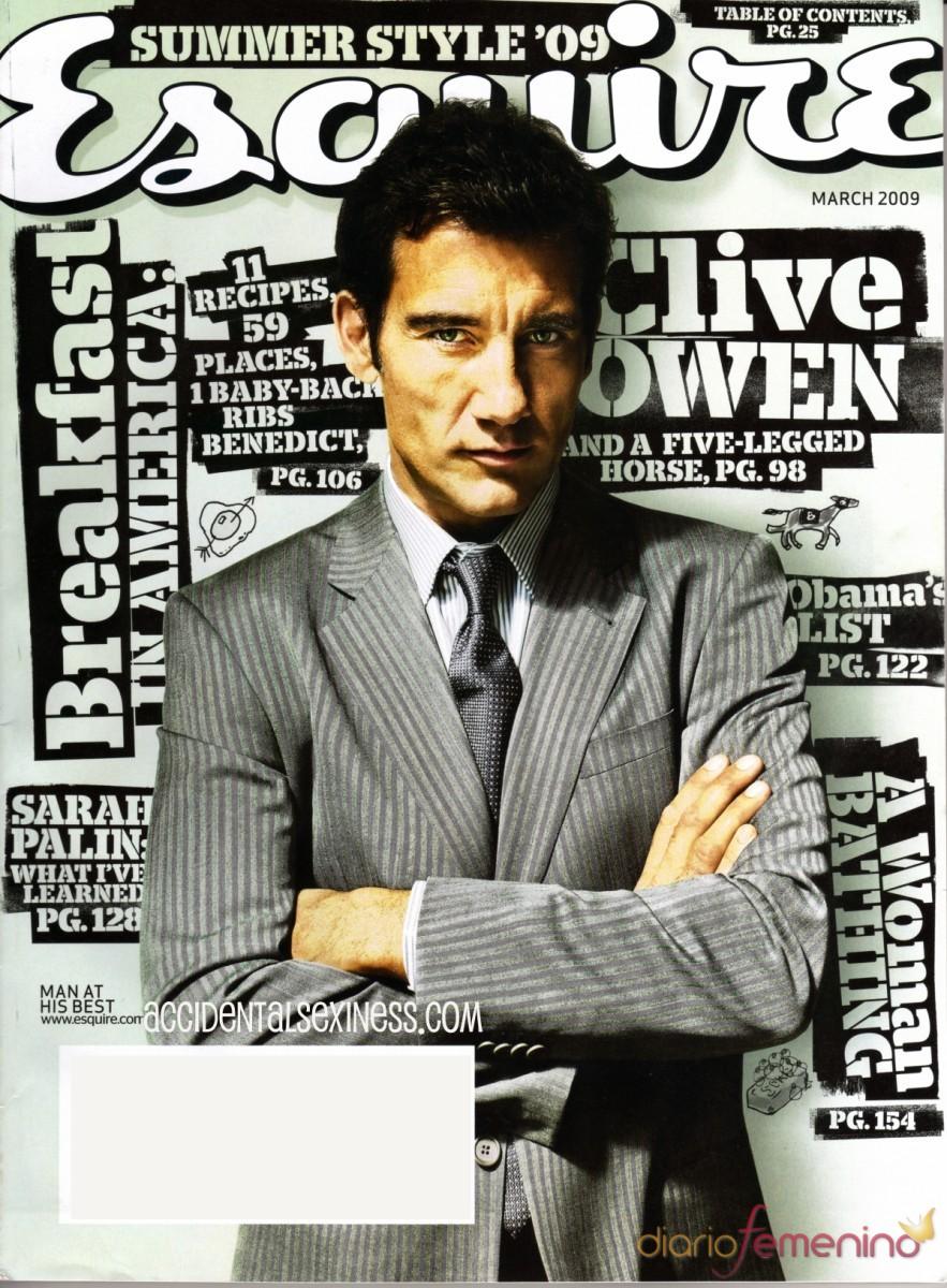 Clive Owen en la revista 'Esquire'