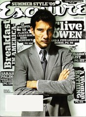 Clive Owen en la revista 'Esquire'