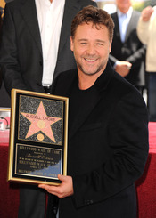 Russell Crowe recoge su estrella en Hollywood