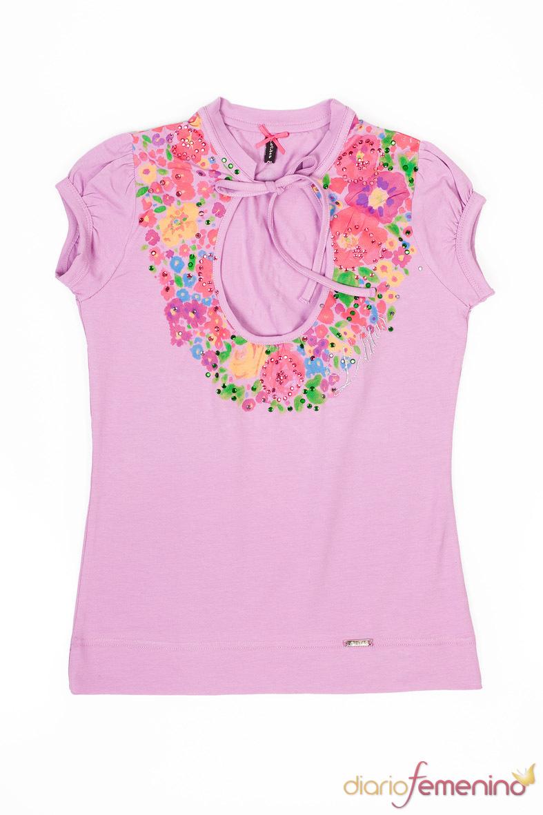 Camiseta con estampado floral de Lolitas & Lolos