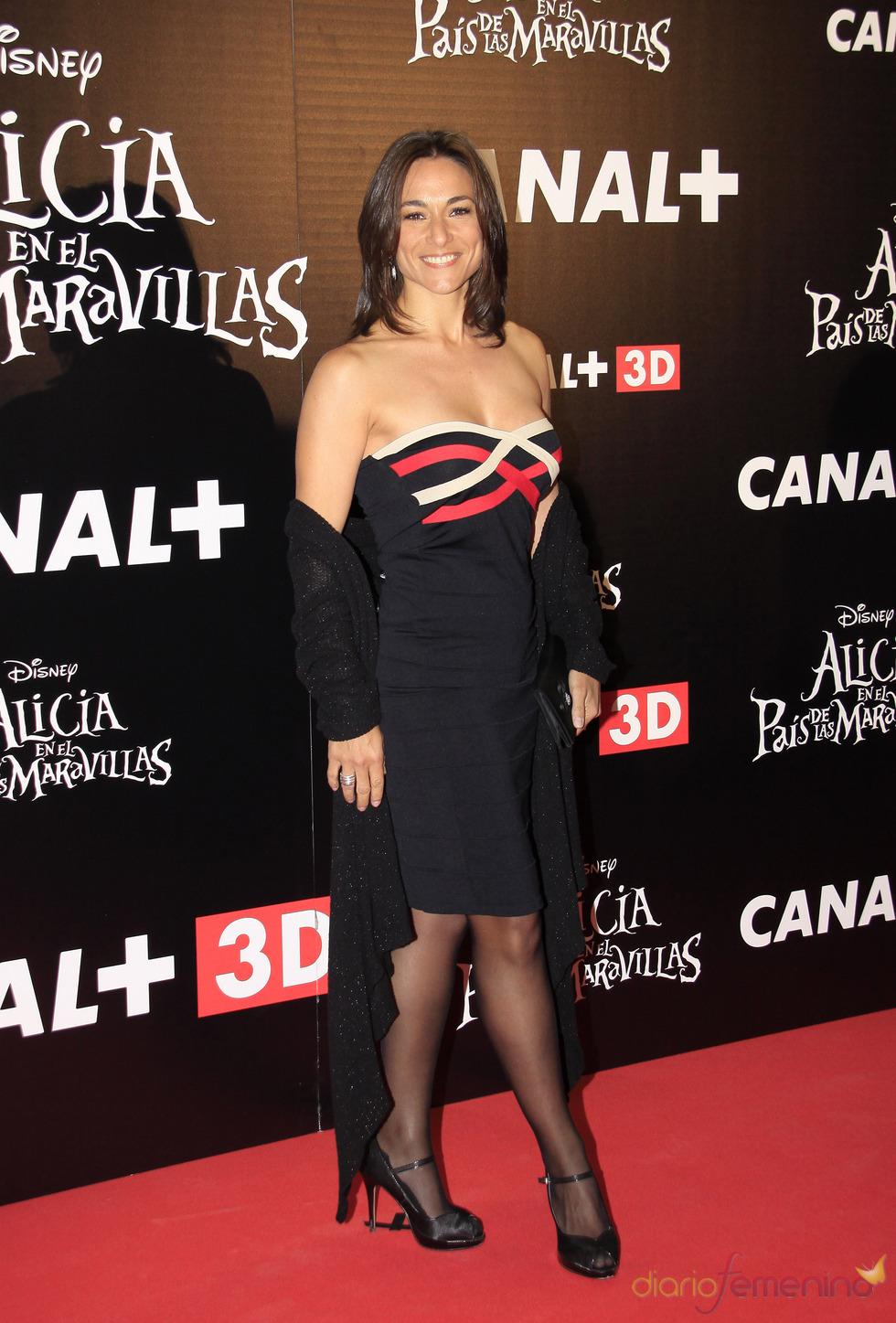 Isabel Serrano en el estreno de 'Alicia en el país de las maravillas'