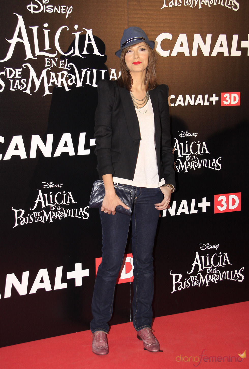 Cristina Urgel en el estreno de 'Alicia en el país de las maravillas'