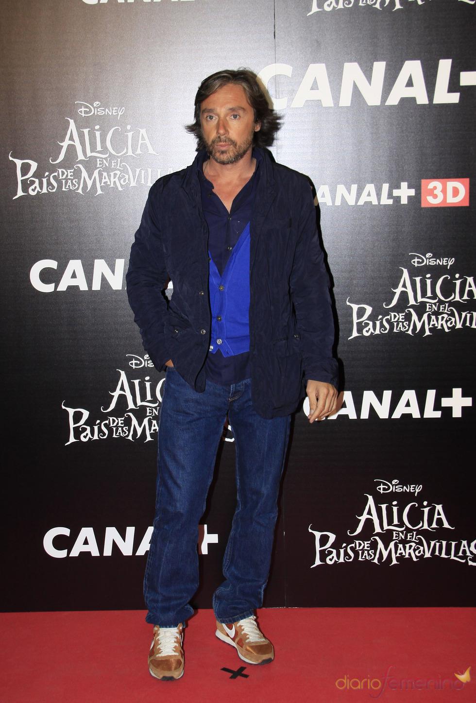 Israel Bayón en el estreno de 'Alicia en el país de las maravillas'
