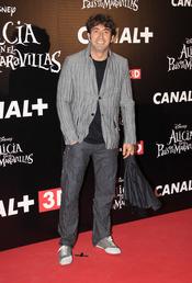 Antonio Garrido en el estreno de la última película de Tim Burton