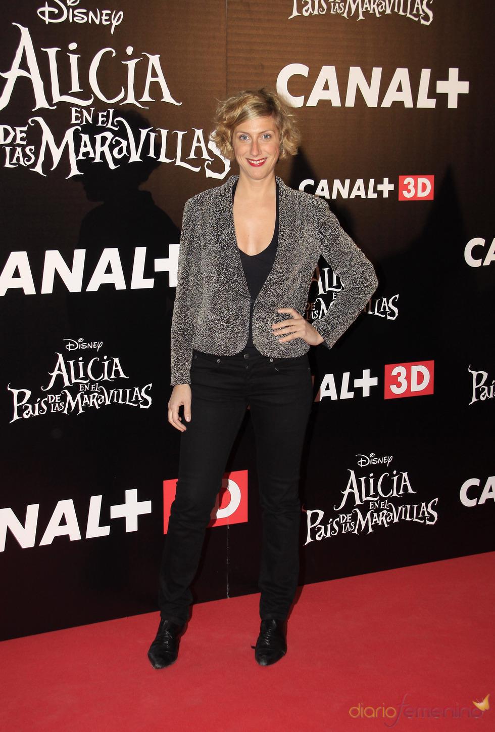 Cecilia Freire en el estreno de 'Alicia en el país de las maravillas'
