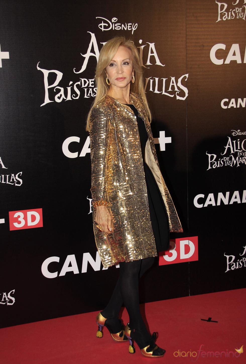 Carmen Lomana en el estreno de 'Alicia en el país de las maravillas'