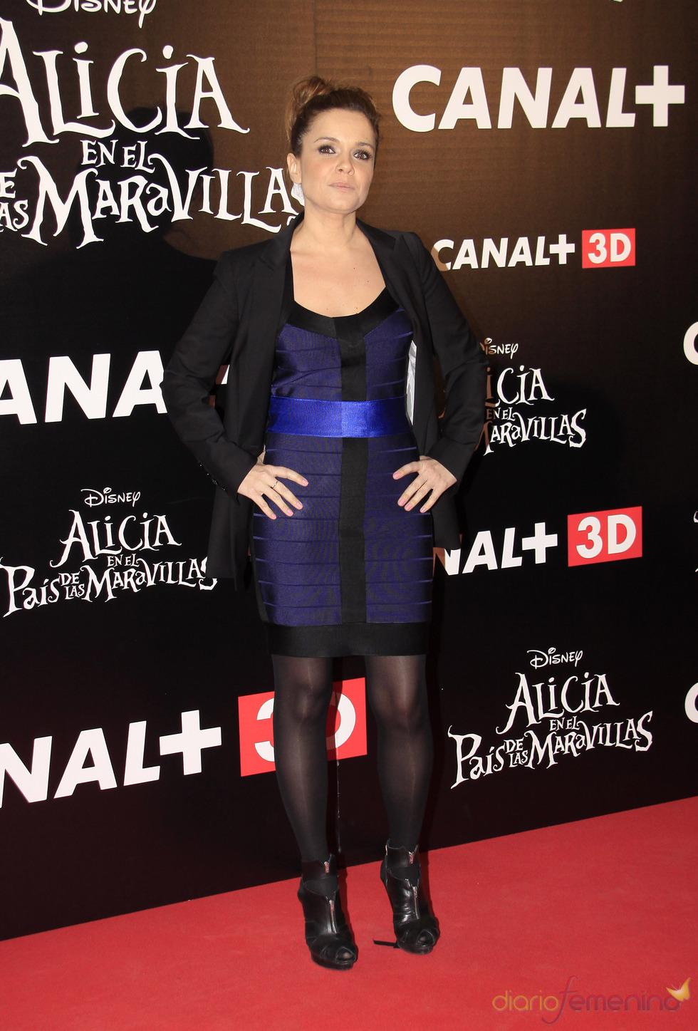 Carme Chaparro en el estreno de 'Alicia en el país de las maravillas'