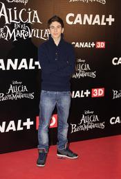 David Castillo en el estreno de 'Alicia en el país de las maravillas'