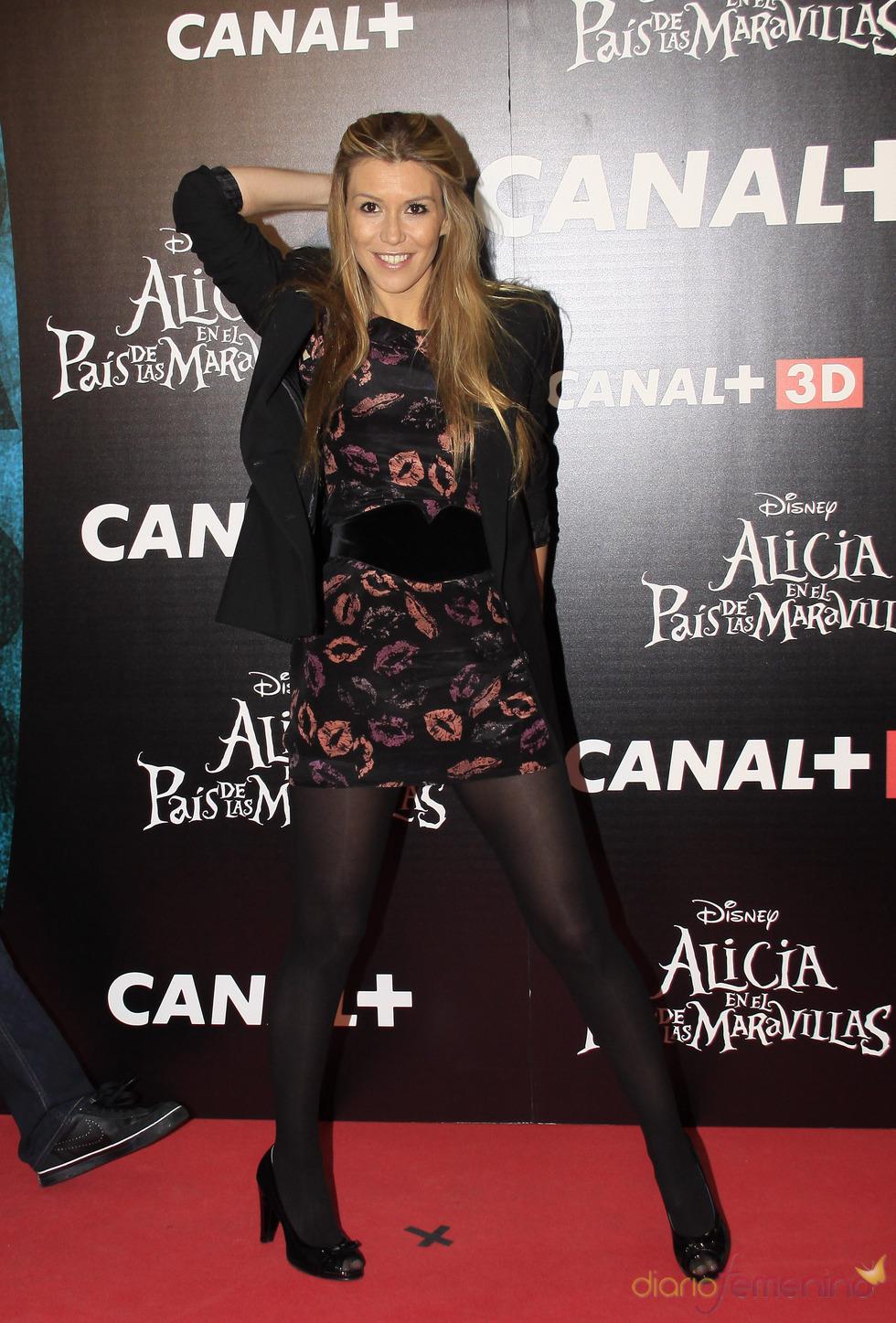 Raquel Meroño en el estreno de 'Alicia en el país de las maravillas'