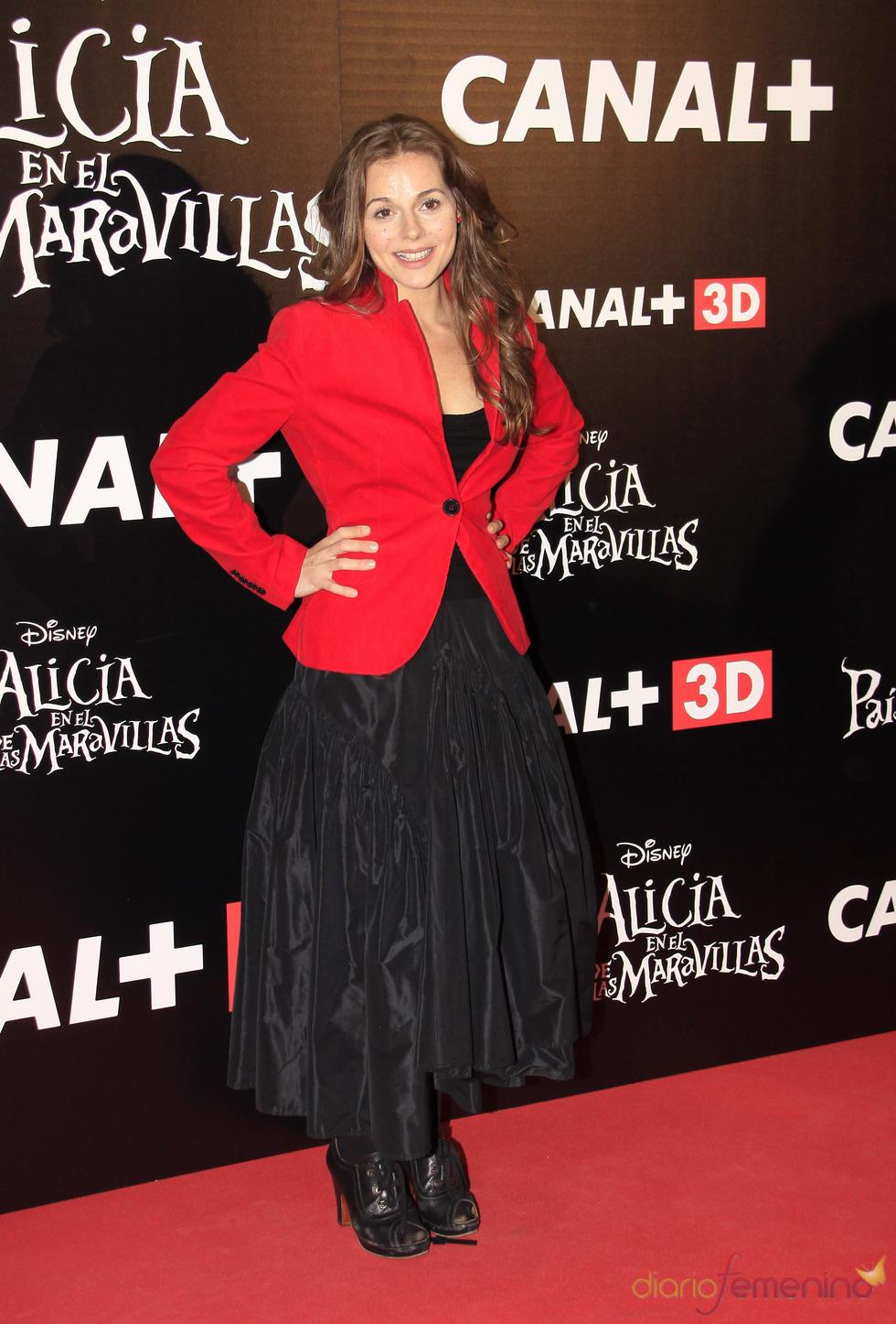 Miryam Gallego en el estreno de 'Alicia en el país de las maravillas'