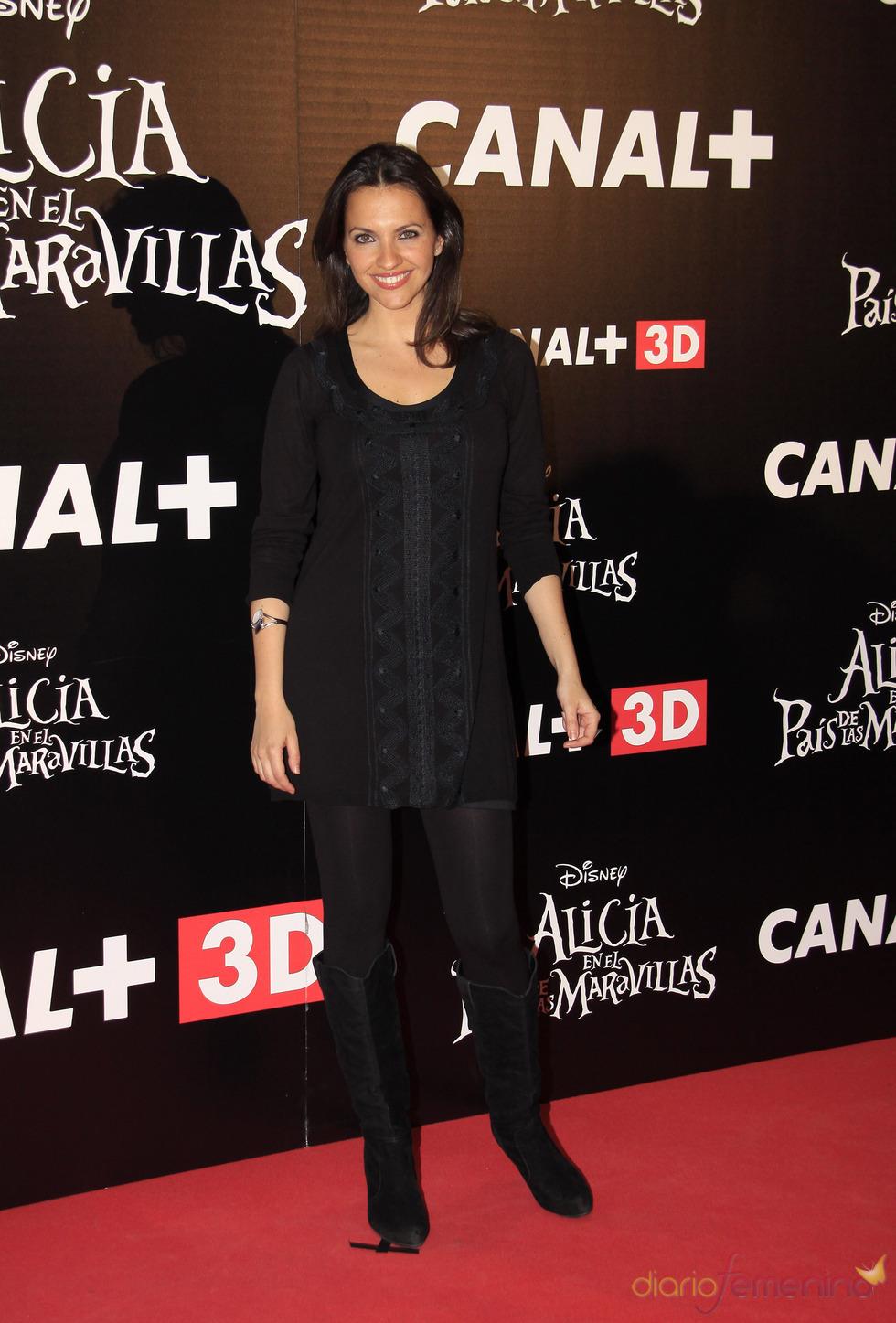Ana Ruiz en el estreno de 'Alicia en el país de las maravillas'