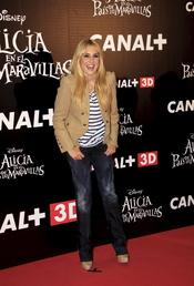 Berta Collado en el estreno de 'Alicia en el país de las maravillas'