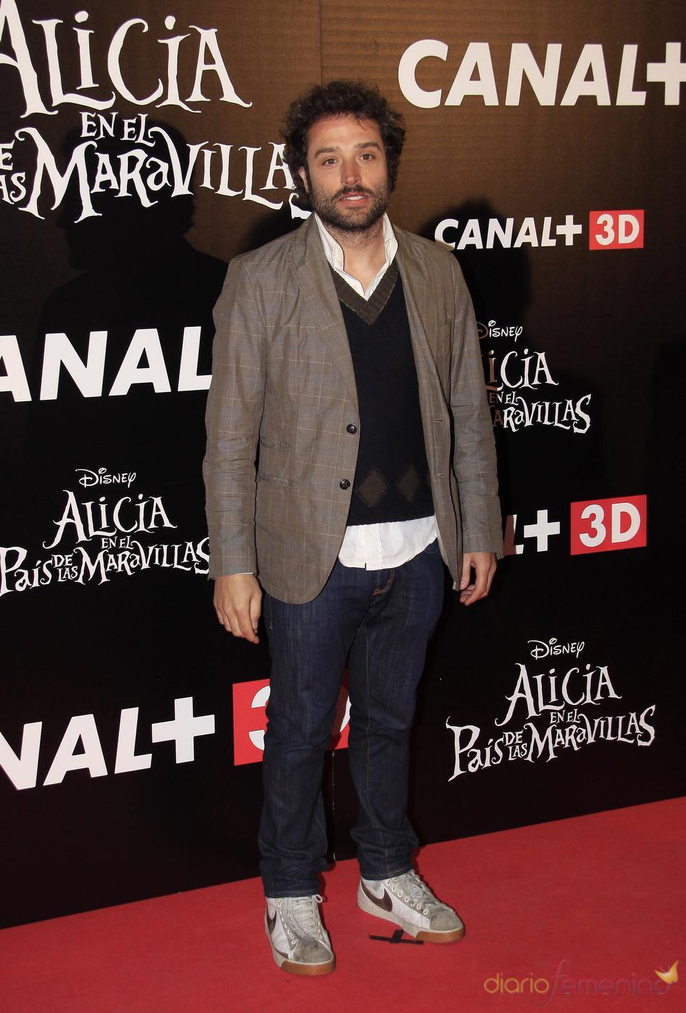 Daniel Guzmán en el estreno de 'Alicia en el país de las maravillas'
