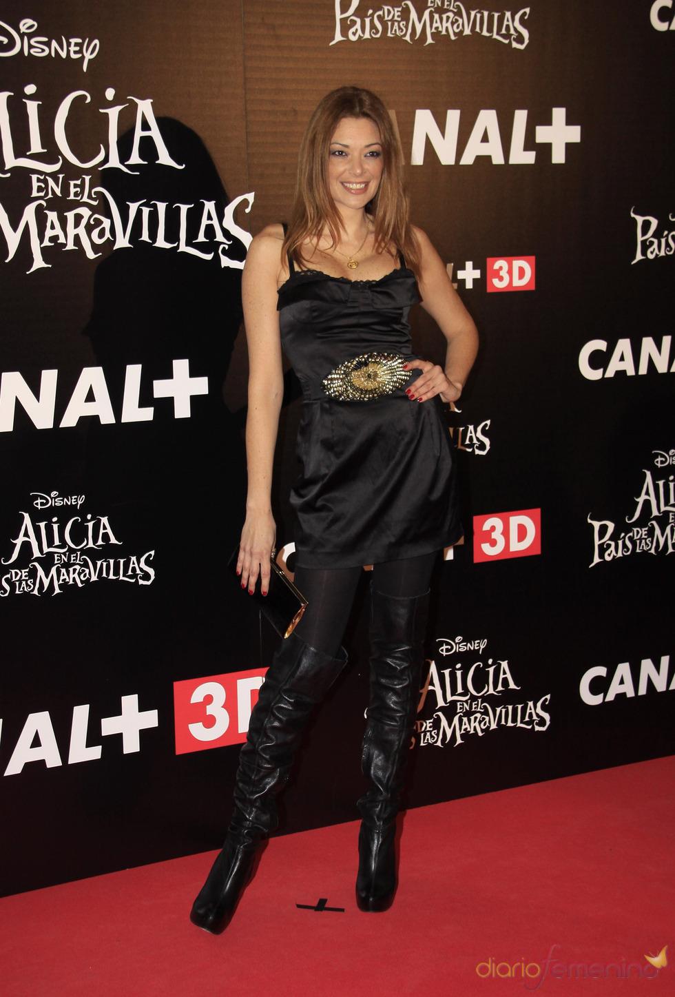 Lucía Hoyos en el estreno de 'Alicia en el país de las maravillas'