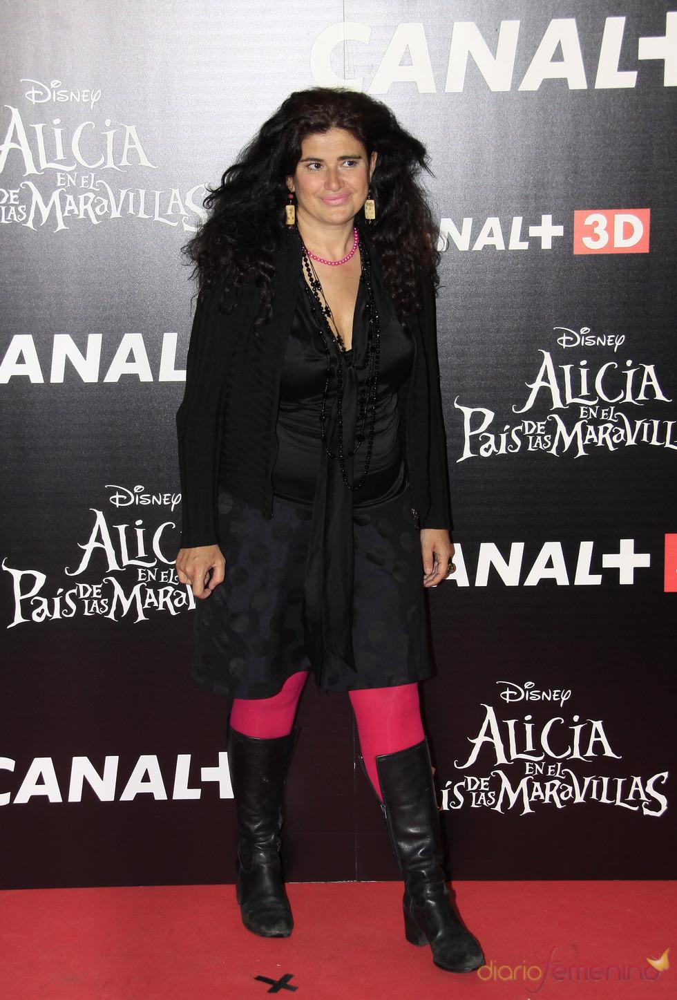 Lucía Etxebarria en la premiere de la última película de Tim Burton