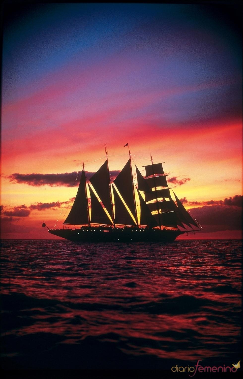 Navegación auténtica en un velero clásico