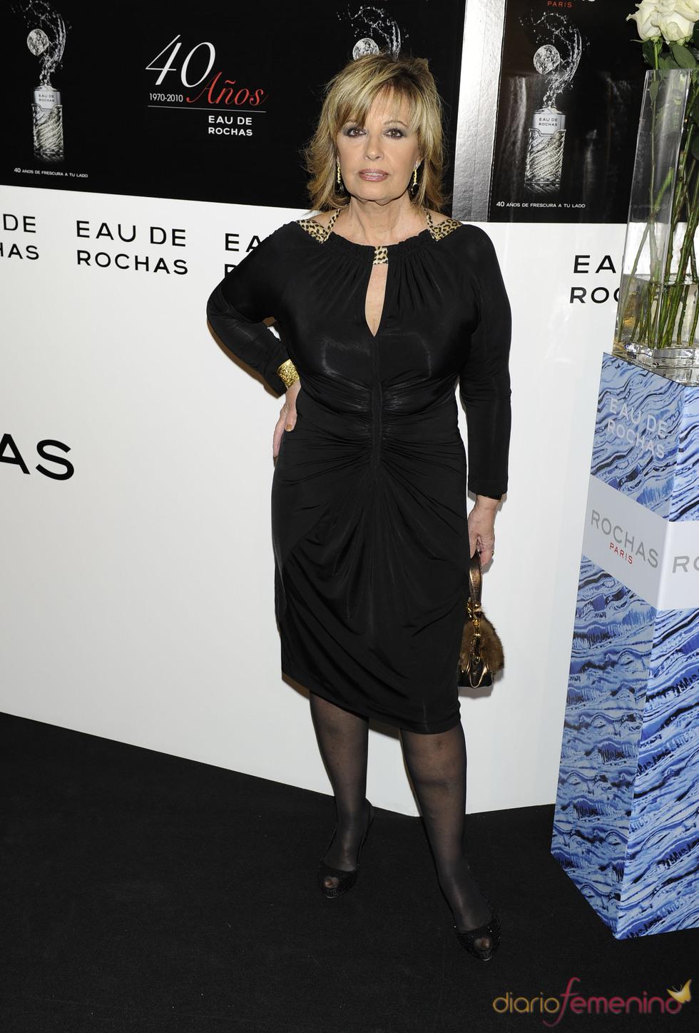 María Teresa Campos en el 40 aniversario de 'Eau de Rochas'