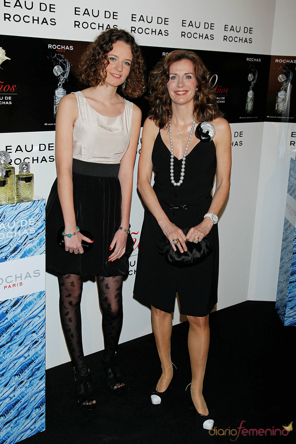 Helena Boyra y su hija en el 40 aniversario de 'Eau de Rochas'