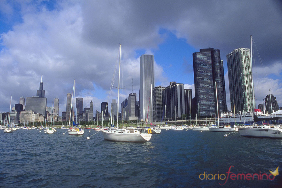 Vistas de Chicago desde el Lago Michigan