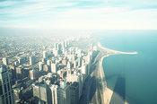 Vistas aéreas de la zona norte de Chicago