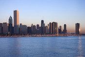 Panorámica de Chicago desde el Lago Michigan