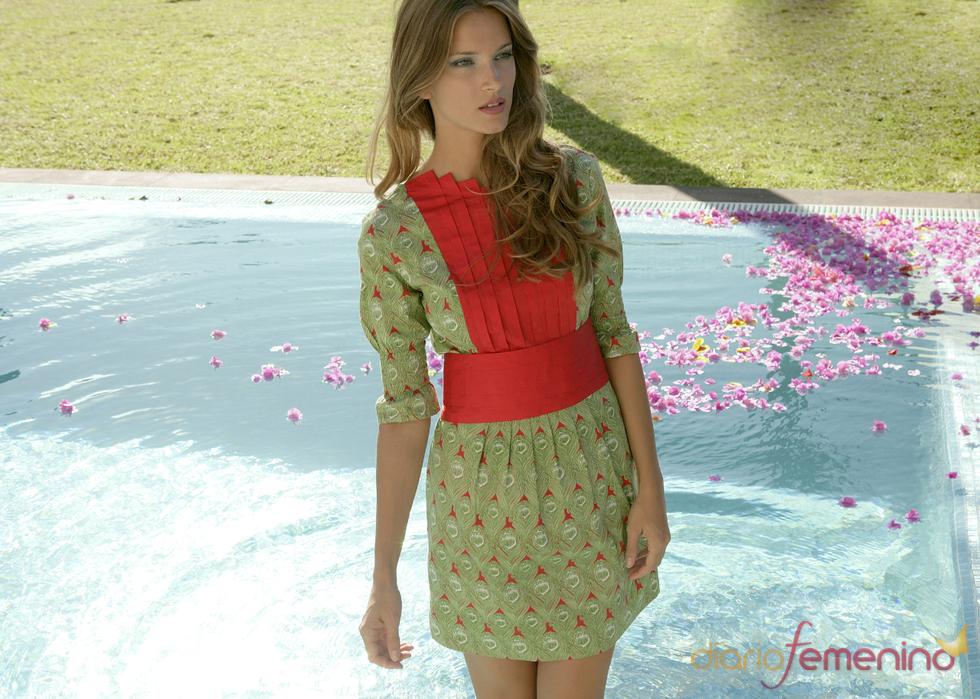 Vestido tableado inspirado en 'Alicia en el País de las Maravillas'