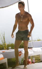 Cristiano Ronaldo en bañador