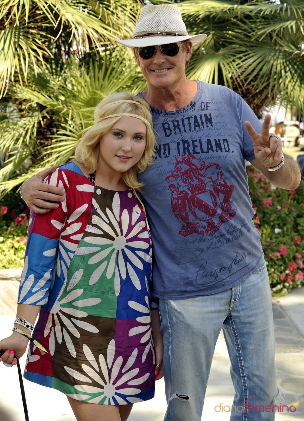 David Hasselhoff e hija en el festival de Coachella